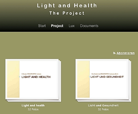 Healthylight Homepage